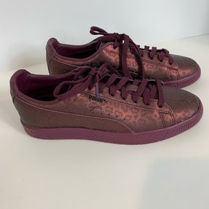 Puma Clyde Sheer Animal Sneakers Size 8 NWOT